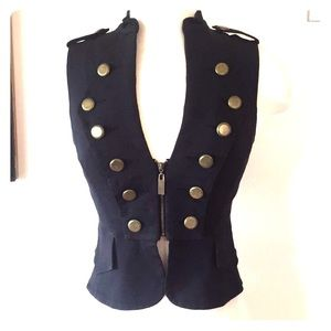 Black army vest